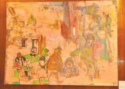 הציור של יאיר גרבוז בלשכת הנשיא