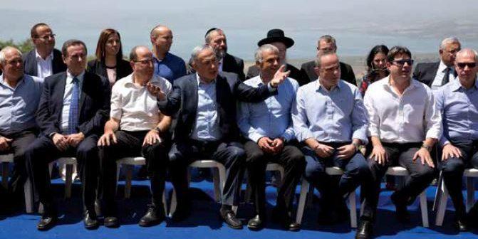 ישיבת ממשלת ישראל ברמת הגולן, בחודש שעבר // צילום: איי־אף־פי, אימג'בנק