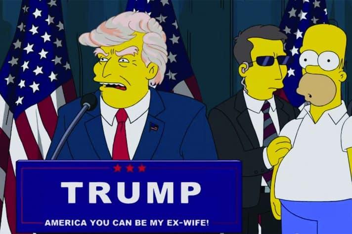 טראמפ במשפחת סימפסון