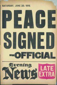 עיתון בריטי מכריז על החתימה, 191