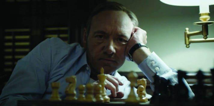הנשיא הרצחני. קווין ספייסי בתפקיד פרנק אנדרווד, 'בית הקלפים'