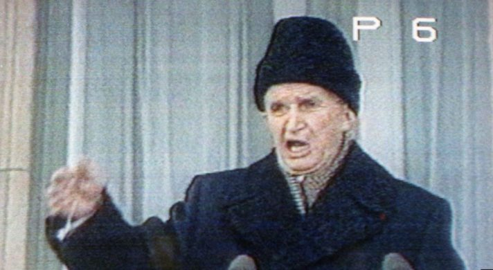 נאומו האחרון של צ'אושסקו 1989, צילום מסך