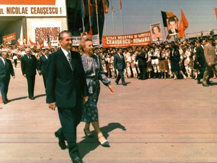 ניקולא ואלנה צ'אושסקו בימי הזוהר 1980