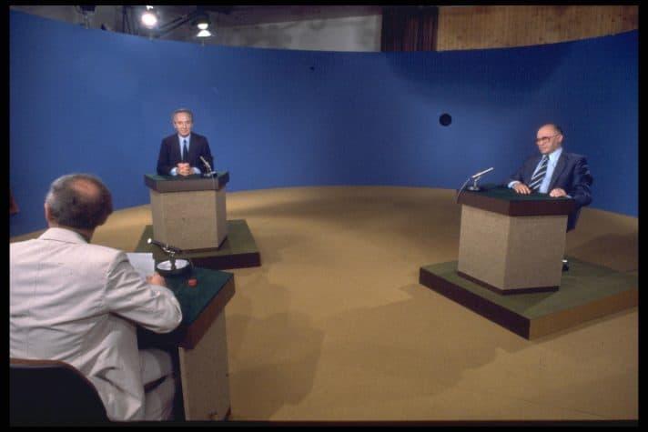 בגין ופרס, עימות בחירות 1981
