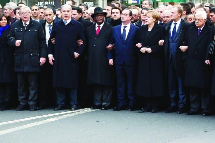 נתניהו באירוע זיכרון לפיגועים בפריז, 2015