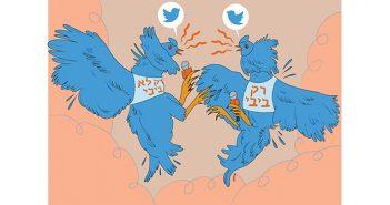 """איור: נעה כ""""ץ. ההזדהות הפוליטית של כתבים"""