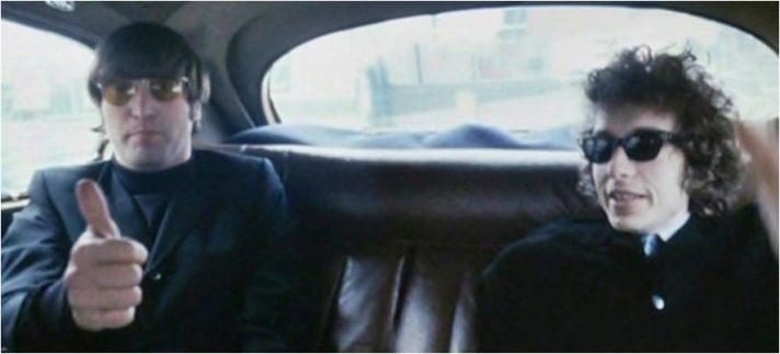 בוב דילן וג'ון לנון, מתוך הסרט הדוקומנטי Eat the document