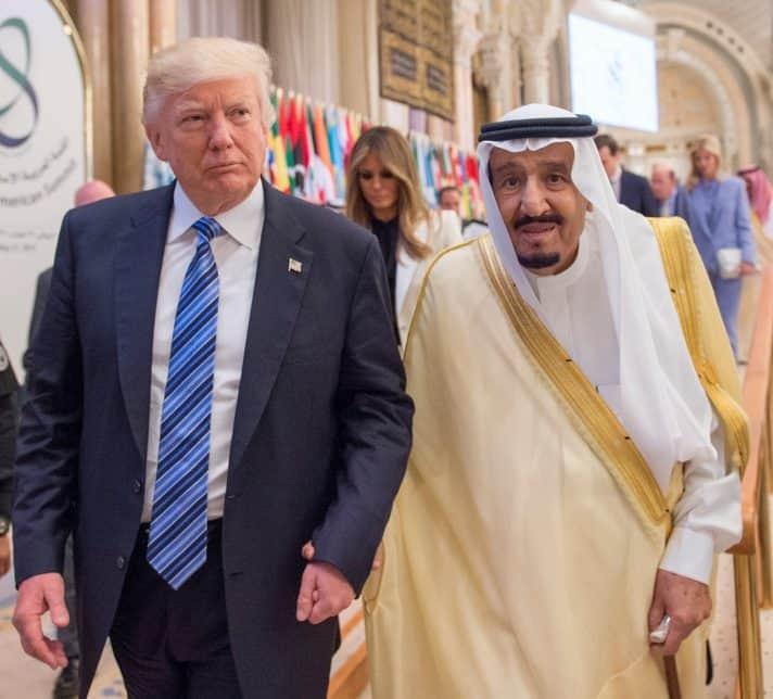 טראמפ מבקר בסעודיה, 2017 // צילום: Bandar Algaloud, Saudi Kingdom Council, Getty Images IL