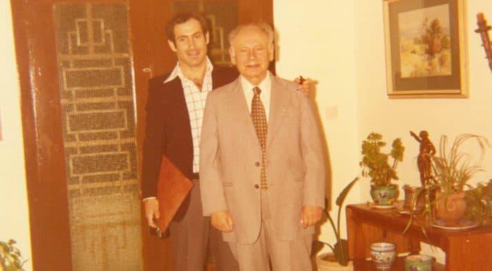 בנציון ובנימין נתניהו, 1977 // צילום: אוסף משפחתי