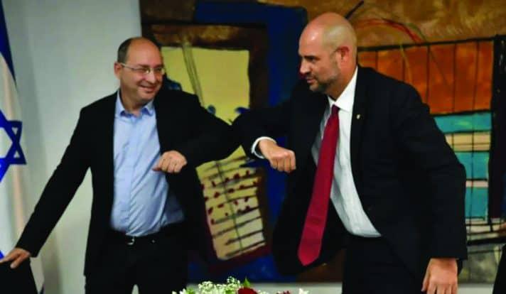 אמיר אוחנה ואבי ניסנקורן // צילום: שלומי אמסלם, לע״מ