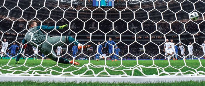 נבחרת רוסיה מול נבחרת ברזיל באצטדיון לוז'ניקי במוסקבה, מרץ השנה // צילום: Alexander Memenov, AFP, Getty Images IL