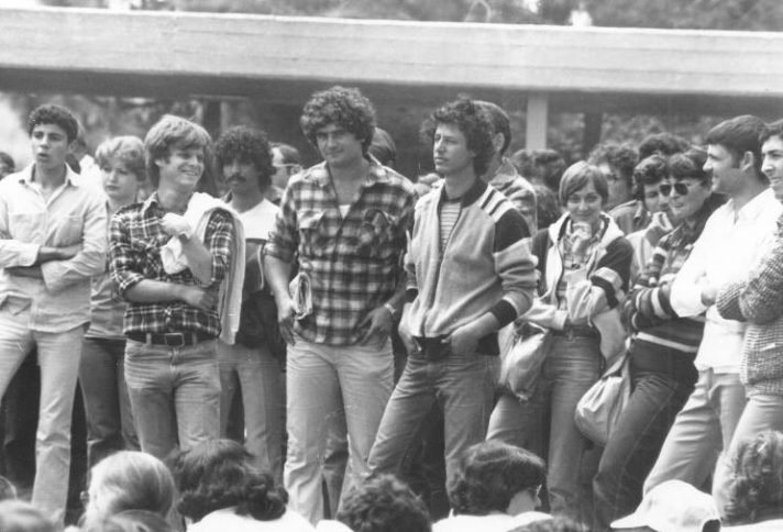 """יו""""ר אגודת הסטודנטים וסגנו: הנגבי וכ""""ץ, שלהי שנות ה־70"""