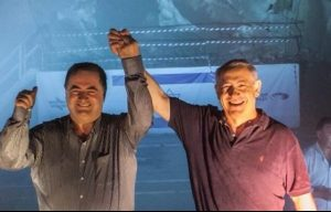 עם נתניהו בפריצת מנהרת הרכבת המהירה בירושלים, 2014