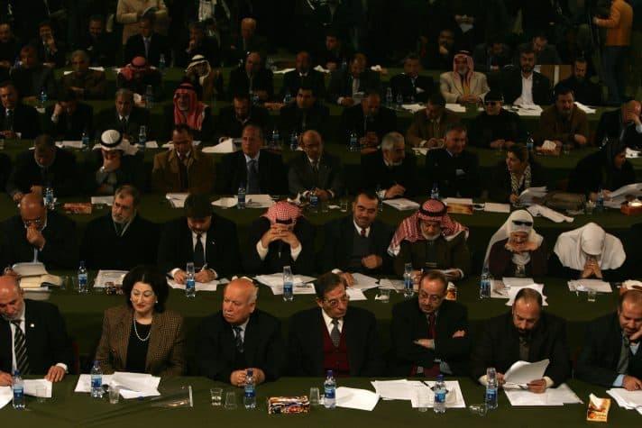 הכינוס האחרון של הפרלמנט הפלסטיני בעזה, 2007 // צילום: אימג'בנק