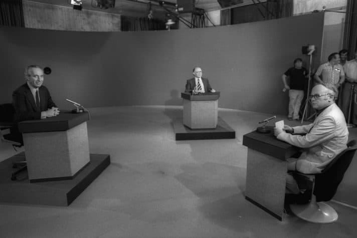העימות הטלוויזיוני // צילום: משה מילנר, לע״מ
