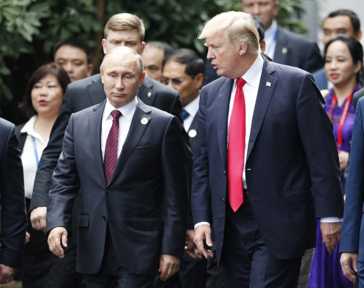 עם טראמפ, 2017 // צילום: Jorge Silva, AFP via Getty Images IL
