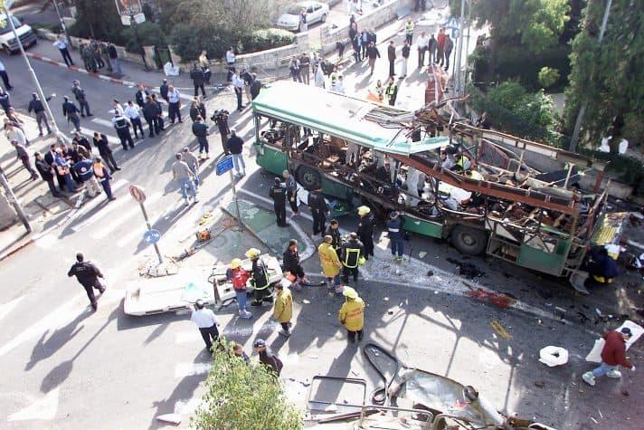 פיגוע תופת בירושלים, 2004 // צילום: פייר תורג'מן, ׳הארץ׳