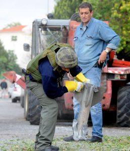 נפילת קסאם בשדרות, 2008 // צילום: אבי אוחיון, לע״מ