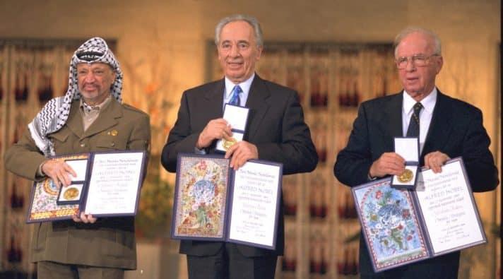 הענקת פרס נובל לשלום, 1994 // צילום: יעקב סער, לע״מ