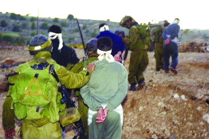 מעצרים ב'חומת מגן', 2002 // צילום: דובר צה״ל