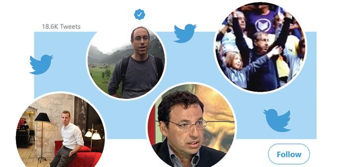 מימין בכיוון השעון: ברדוגו, דרוקר, סגל, ליבסקינד // צילומים: אלבום פרטי, צילומי מסך