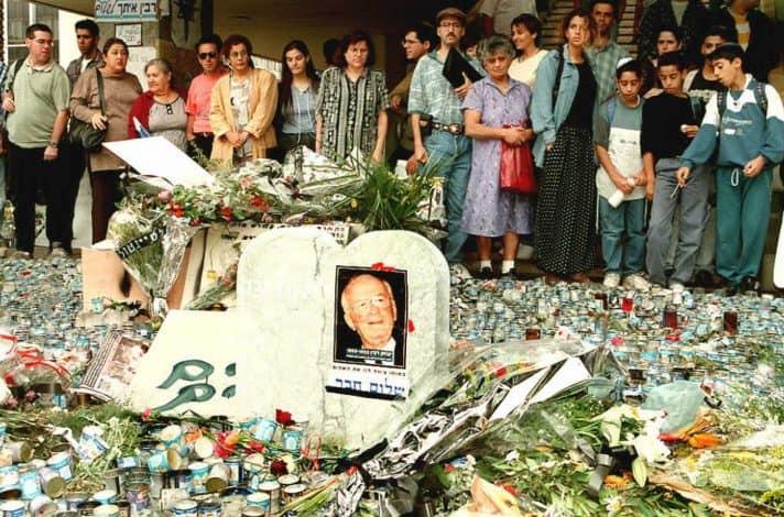 כיכר מלכי ישראל, שלושה ימים אחרי רצח רבין // צילום: סבן נקסטרנד, איי־אף־פי, אימג׳בנק