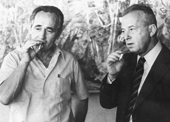 רבין ופרס, 1975 // צילום: לע״מ