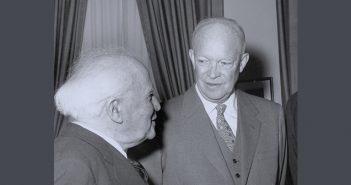 אייזנהאואר ובן־גוריון // צילומים: Keystone, Getty Images IL