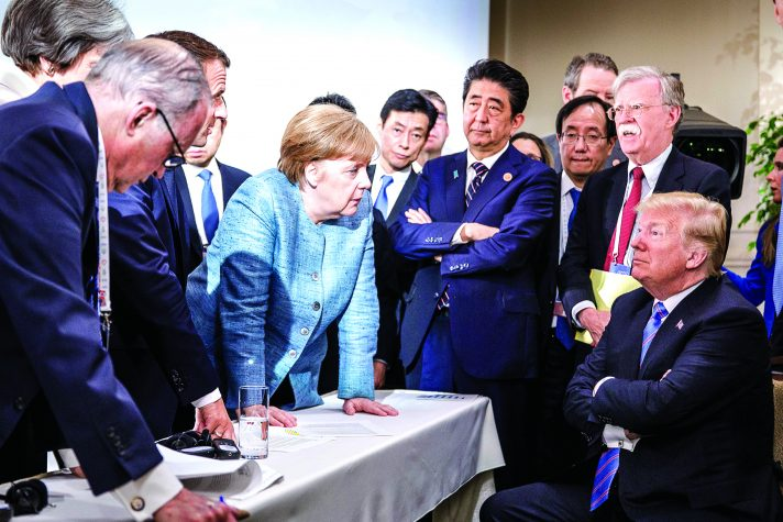 זיכרון אייקוני מייצג, טראמפ ומרקל, 2018 // צילום: Jesco Denzel, Bundesregierung via Getty Images IL
