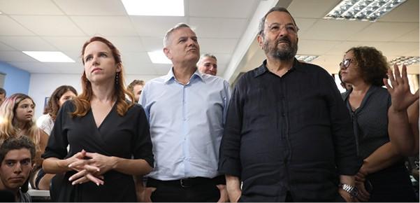 ברק, הורוביץ ושפיר, בחירות 2019 סבב ב' // צילום: מגד גוזני, ׳הארץ׳