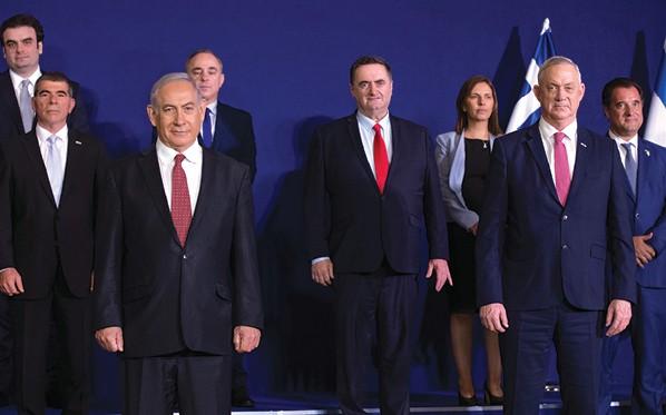 הקמת ממשלת האחדות של הליכוד וכחול לבן // צילום: אוהד צויגנברג, ׳הארץ׳