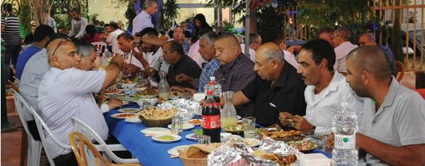 סעודת עיד אל־פיטר צילום איגוד הקבלנים