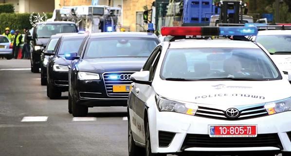 שיירת רה״מ בירושלים צילום: משטרת ישראל