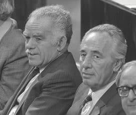 פרס ושמיר בזמן ממשלת האחדות צילום נתי הרניק, לע״מ
