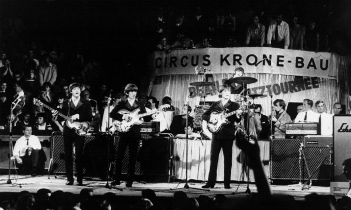 הביטלס בהופעה במינכן, גרמניה, 1966 // צילום: אימג'בנק