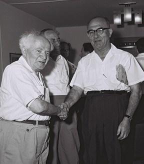 אשכול ובן־גוריון // צילום: פריץ כהן, לע״מ