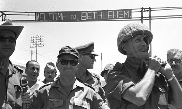 דיין בשטח במלחמת ששת הימים// צילום: משה מילנר, לע״מ