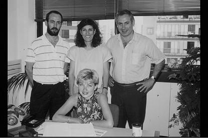 הצוות של נתניהו בכניסתו לפוליטיקה. משמאל: איל ארד // צילום: לע״מ
