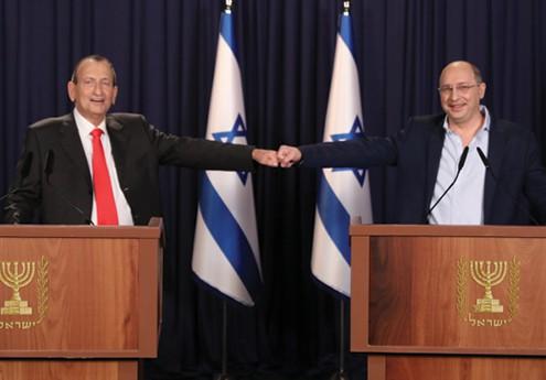 חולדאי וניסנקורן בהכרזה על מפלגת 'הישראלים' צילום - נס הפקות