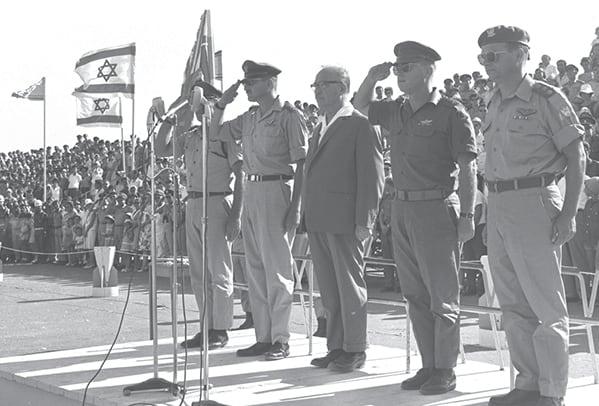 רבין אשכול, ויצמן, 1965 // צילום: משה מילנר, לע״מ