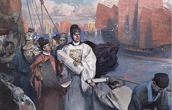 תיעוד המסע של ג׳נג חה בציור מהתקופה