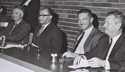 ויצמן (שני מימין) ובגין, 1969 צילום פריץ כהן, לע מ