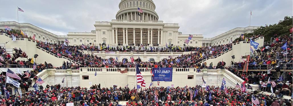 תומכי טראמפ מסתערים על הקונגרס צילום- Tayfun Coskun, Anadolu Agency via Getty Images IL