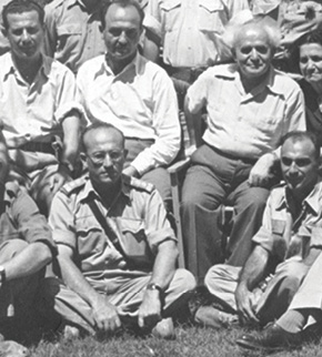 בן גוריון עם יחזקאל סהר צילום ארכיון צה״ל