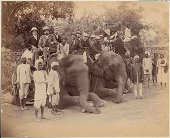 בריטים בהודו, 1869 צילום Sepia Times, Universal ImagesGroup via Getty Images IL