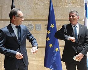 אשכנזי עם הייקו מאס, שר החוץ הגרמני במשרד החוץ בירושלים, 2020 צילום אוהד צויגנברג, ׳הארץ׳