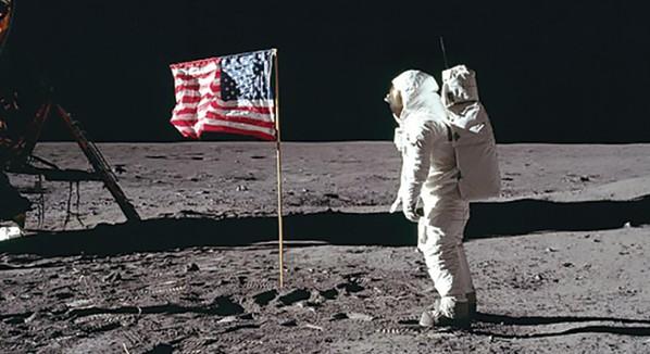 באז אולדרין על הירח, 1969 // צילום: ניל ארמסטרונג