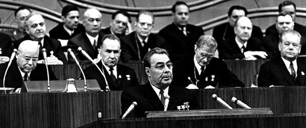 ברז'נייב נואם בוועידה הקומוניסטית 1971 // צילום: Mondadori Portfolio by Getty Images IL