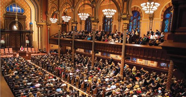 קבלת שבת ב'סנטרל סינגוג' הרפורמי בניו יורק צילום באדיבות בית הכנסת