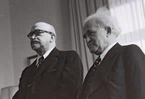 בן־גוריון עם ויצמן, 1949 צילום דוד אלדן, לע״מ